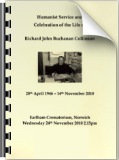 Richard's Funeral Order of Ceremony